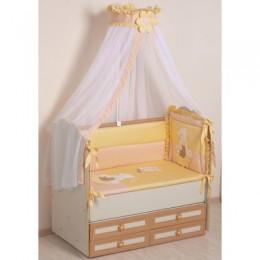 Комплект в кроватку Сдобина Арт. 64 персиковый