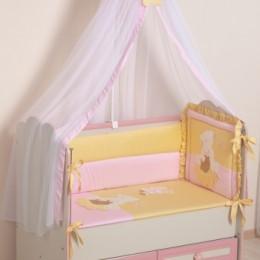 Комплект в кроватку Арт. 64 розовый