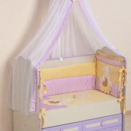 Комплект в кроватку Сдобина Арт. 64 фиолетовый