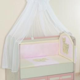 Комплект в кроватку Тигрята Арт. 57.1 розовый