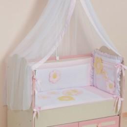 Комплект в кроватку Сдобина  Арт. 62 розовый