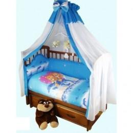 Комплект в кроватку арт. 59 голубой