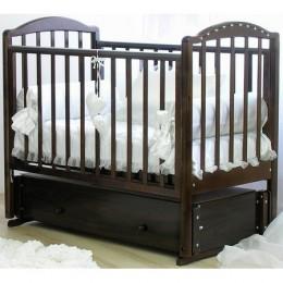 Кроватка Регина с 602 со стразами шоколад  инкрустация стразами