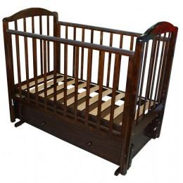 Кроватка с 725 Руслан шоколад универсальный маятник