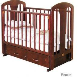 Кроватка С 851 Виталина вишня поперечный маятник с ящиком