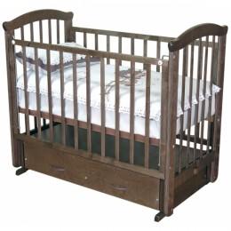 Кроватка С 625 шоколад, вишня, медовый, красно-коричневый маятник поперечный