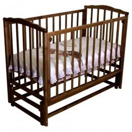 Кроватка с 619 красно-коричневый маятник продольный без ящика