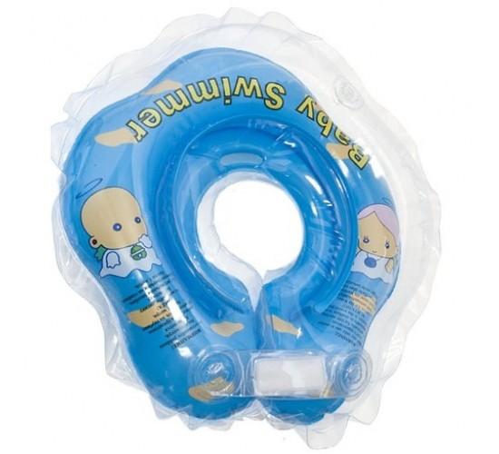 Круг для купания Baby Swimmer голубой (полноцвет) BS21B