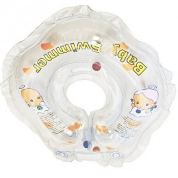 Круг для купания Baby Swimmer прозрачный (полуцвет+внутри погремушка) BS01T-B