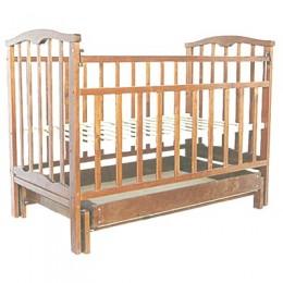 Детская кроватка Агат Золушка-4 маятник поперечный с ящиком орех Арт.52101