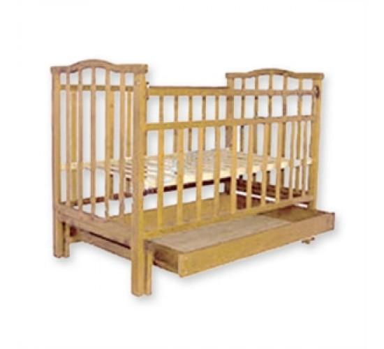 Детская кроватка Агат Золушка-4 маятник поперечный с ящиком светлый Арт.52100