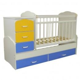Кровать – трансформер СКВ-93003. Арт.930032(желтый-голубой)