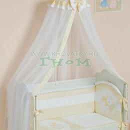 """Комплект в кроватку """"Мой маленький друг"""", арт. 50.1, бежевый"""