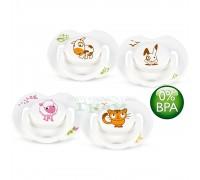 Avent Пустышка силиконовая Домашние животные 0-6 мес. (уп.2шт) BPA-Free