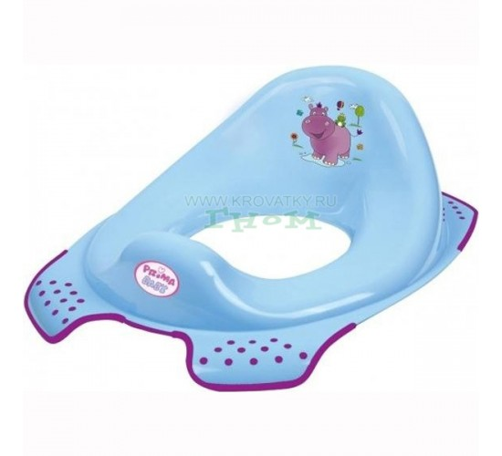 Накладка на унитаз Hippo, Prima-Baby голубой