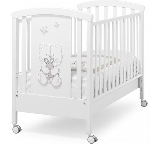 Детская кроватка Erbesi Timidone, колеса
