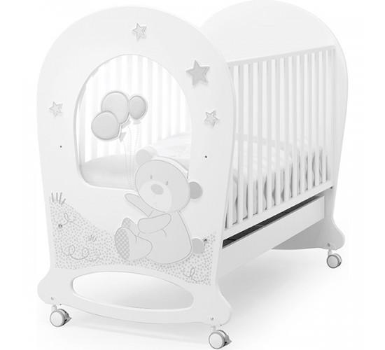 Детская кроватка Erbesi Tobia, колеса