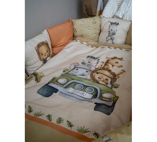 Комплект в кроватку lappetti Сафари арт. 6101 универсальный