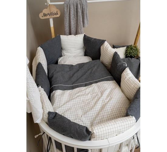 Комплект в кроватку Lappetti Organic baby cotton арт. 6099 универсальный