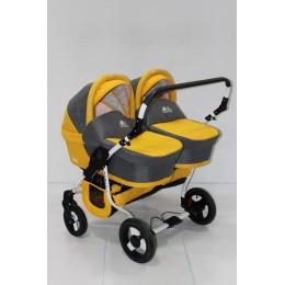 Детская коляска для двойни BartPlast Teddy Fenix Duo 2в1
