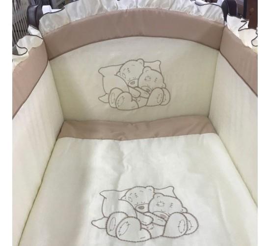 Комплект в детскую кроватку Vanchetti Teddy 6 предметов Арт.018