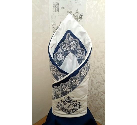 "Конверт одеяло на выписку ""Vinchi Royal Blue"" Арт. 036"
