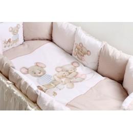 """Комплект для круглой (овальной) и прямоугольной кроватки Lappetti """"Little mouse"""" арт.6070"""