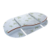 Матрас трансформер Ploomababy  Бамбук кокос латекс 125 на 75 овал и 75 на 75 круг