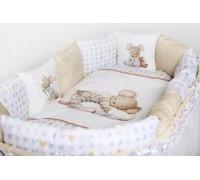 """Комплект для круглой ( овальной ) и прямоугольной кроватки Lappetti """"Мышки на облаке"""" арт. 6075"""