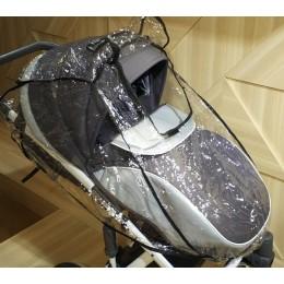Дождевик силиконовый для прогулочной коляски с окошком арт. 015