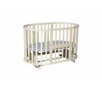 Овальная кроватка с силиконовыми накладками Аспасия 8 в 1