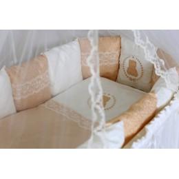 """NEW! Комплект для круглой (овальной) кроватки Lappetti  """"Sweet Teddy"""" арт.6050"""
