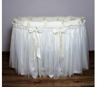 Подзор на кроватку Lappetti В2 (юбка с бантами)