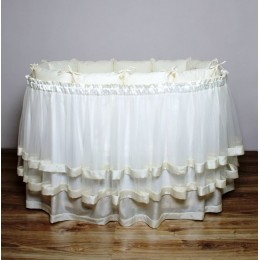 Подзор на кроватку Lappetti В3 (юбка с ярусами)