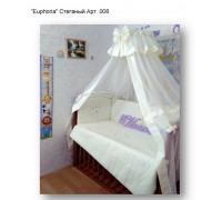 """Комплект в кроватку """"Euphoria"""" стеганый 6 предметов Арт. 008"""