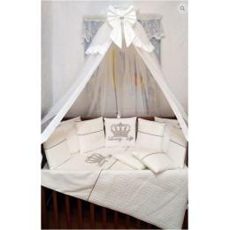 """Комплект в детскую кроватку """"Luxury Luxe"""" 6 предметов Арт. 0-14"""