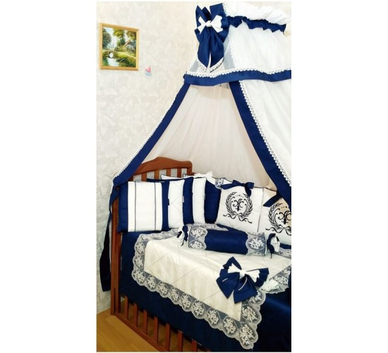 """Комплект в детскую кроватку """"Magic Royal Blue"""" 20 прд. Арт. Mg032"""