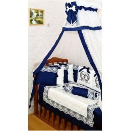 """Комплект в детскую кроватку """"Sunshine Royal Blue"""" 20 прд. арт. S032"""