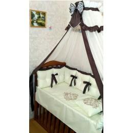 """Комплект в детскую кроватку """"Vinchi Brown"""" 18 прд. Арт. 036B"""
