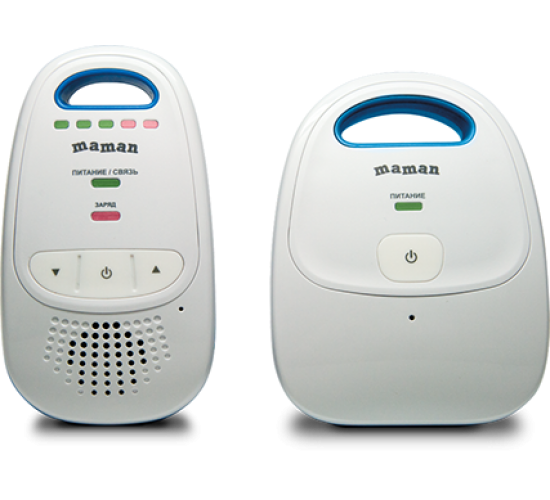 Беспроводная система аудио наблюдения за ребенком с дальностью до 300 метров – радионяня Maman BM1000